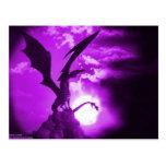 Dragón púrpura 2 postales