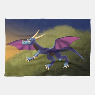 Dragón púrpura/azul 11/14/15 toalla