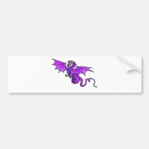 Dragón púrpura pegatina de parachoque