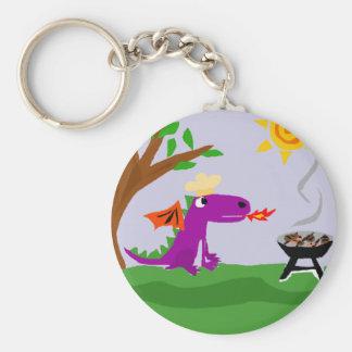 Dragón púrpura divertido Grill Master