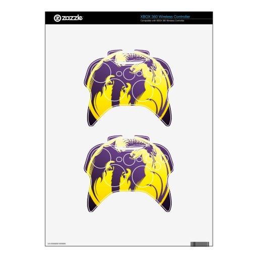 Dragón púrpura mando xbox 360 skins