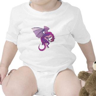dragón púrpura trajes de bebé