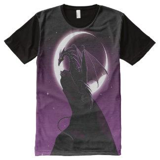 Dragón púrpura por todo la camiseta de la