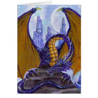 dragón púrpura tarjeta de felicitación