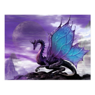 Dragón púrpura tarjetas postales