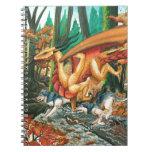 Dragón que corre con los lobos de Carla Morrow Libros De Apuntes Con Espiral