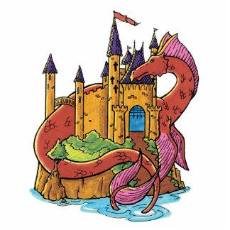 dragón que guarda el castillo fotoescultura vertical