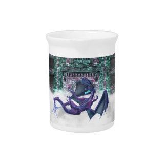 Dragón que guarda la jarra del castillo
