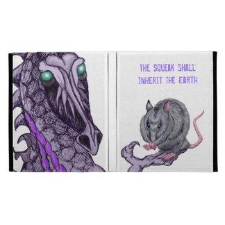 dragón que lleva a cabo la caja del folio del iPad