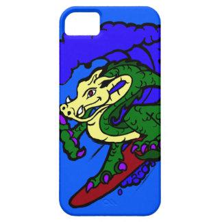 Dragón que practica surf flojo de la caída iPhone 5 coberturas