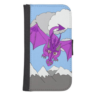 dragón que vuela sobre la caja de la cartera del funda tipo billetera para galaxy s4