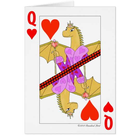 Dragon Queen of Hearts Card