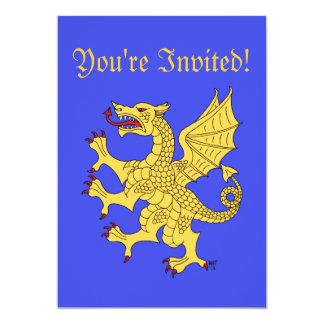 Dragon Rampant (Gold) Invitation