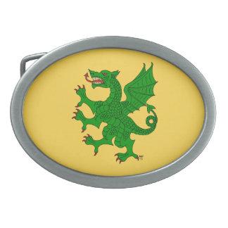 Dragon Rampant (Green) Belt Buckle
