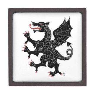 Dragon Rampant Sable Jewelry Box