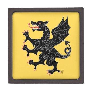 Dragon Rampant Sable on Yellow Gift Box