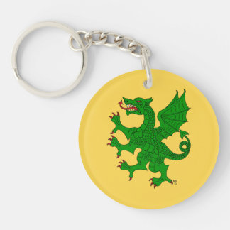 Dragon Rampant Vert Acrylic Keychain