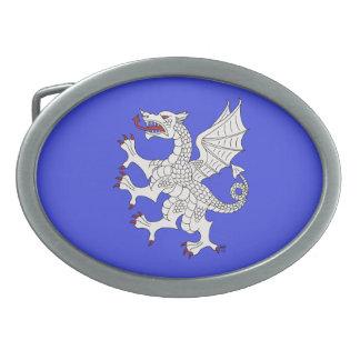 Dragon Rampant (White) Belt Buckle