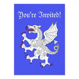 Dragon Rampant (White) Invitation