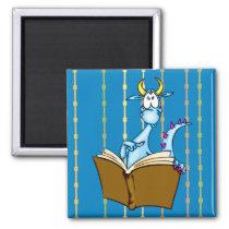 Dragon Reading Book Magnet