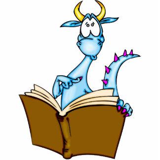 Dragon Reading Book Statuette