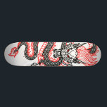 """Dragon: Red Dot Skateboard<br><div class=""""desc"""">The mightiest animal over the rising sun.</div>"""