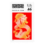 Dragon Red & Gold Chinese Zodiac Stamp
