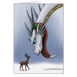 Dragon & Reindeer Notecard Greeting Cards