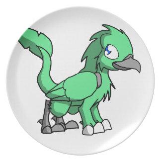 Dragón reptil del pájaro del SD del verde de mar Platos De Comidas