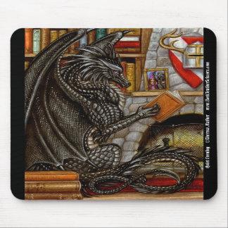 Dragón reservado Mousepad de la lectura de la tard Alfombrilla De Ratones