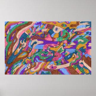 Dragon Ride, Original Abstract Poster