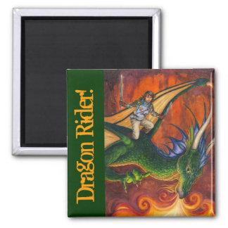 Dragon Rider! 2 Inch Square Magnet