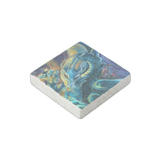 Dragon Rider and Sorcerer Stone Magnet