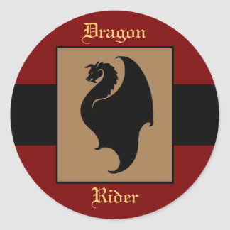 Dragon Rider Birthday Stickers