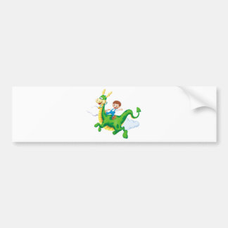 Dragon Rider Bumper Sticker