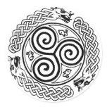 Dragon Ring Classic Round Sticker