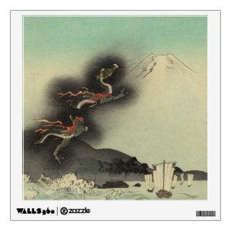 Dragon Rising Over Mount Fuji Wall Sticker