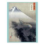 Dragon rising to the heavens by Ogata, Gekko Ukiyo Postcard