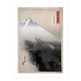 Dragon rising to the heavens Ogata Gekko Post Cards