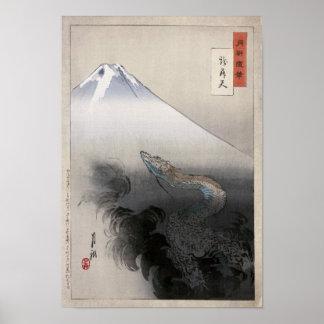Dragon rising to the heavens, Ogata Gekko Poster