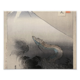 Dragon rising to the heavens photo print