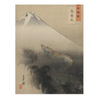 Dragon Rising To The Heavens Postcard