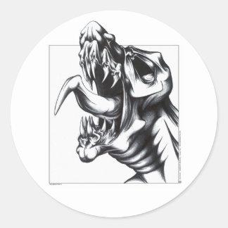 Dragon Roar Classic Round Sticker
