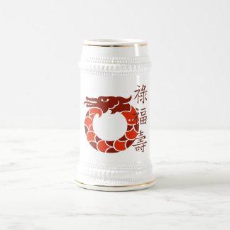 Dragón rojo afortunado Stein Jarra De Cerveza