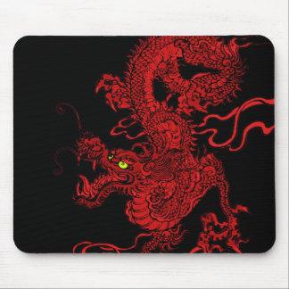 Dragón rojo alfombrillas de ratones