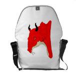 Dragón rojo bolsa de mensajería
