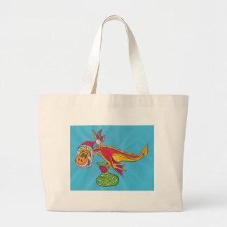 Dragón rojo bolsas lienzo
