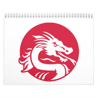 Dragón rojo calendarios de pared