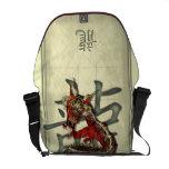 Dragón rojo chino bolsa messenger