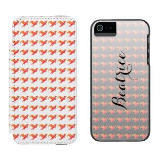 Dragón rojo con alas funda cartera para iPhone 5 watson
